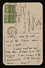 [Unidentified sender, New York, N.Y. postcard to Faith Weston, Washington, D.C. 1]