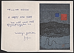 Masaji Yoshida christmas card to Harold Weston