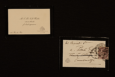 [James McNeill Whistler note to unidentified recipient, Cambridge, England]