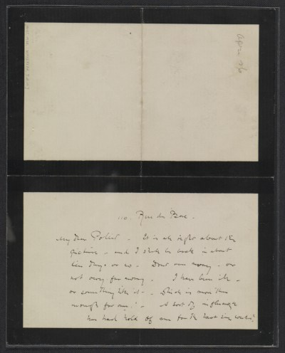 [James McNeill Whistler letter to Herbert Charles Pollitt]
