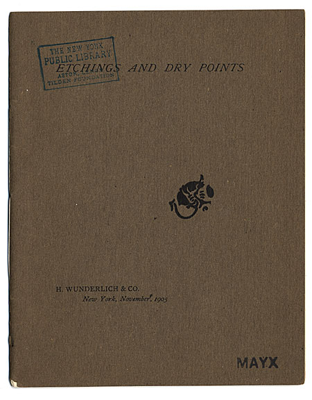 Catalogue of a Collection of Etchings and Dry Points by Whistler