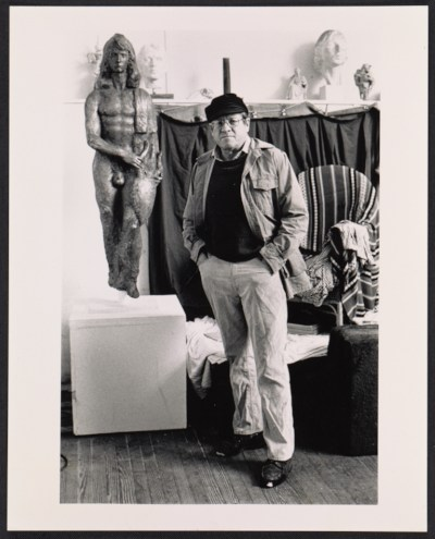 Robert W. White in his studio in St. James, N.Y.