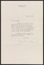 Jacqueline Kennedy letter to Robert W. White