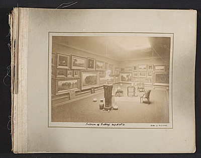 Scrapbook of materials relating to George Whitneys art collection