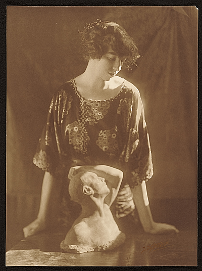 Gertrude Vanderbilt Whitney and her sculpture Despair