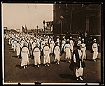 Red Cross nurses in parade