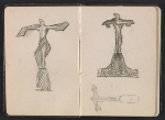 [Gertrude Vanderbilt Whitney sketchbook/diary pages 3]
