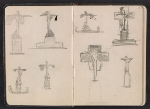 [Gertrude Vanderbilt Whitney sketchbook/diary pages 4]