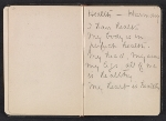[Gertrude Vanderbilt Whitney sketchbook/diary pages 8]