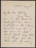 Letter from Natalie H. Hammond to Gertrude Vanderbilt Whitney