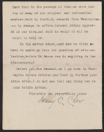 [Letter from Mary C. Chew to Gertrude Vanderbilt Whitney page 2]