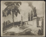 Reproduction of sketch for Gertrude Vanderbilt Whitneys Fourth Division memorial