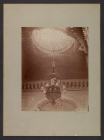 View of chandelier and oculus at Cornelius Vanderbilt residence at 1 West 57th Street in New York City