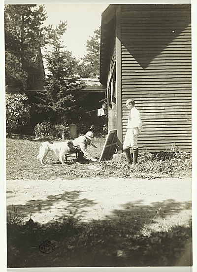 [Abbott Handerson Thayer painting outside]