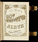 [Photograph album of nineteenth century artists title page ]
