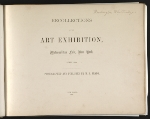 [Recollections of the Art Exhibition, Metropolitan Fair, New York page 1]
