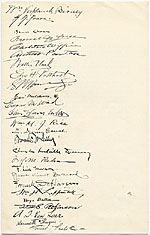 [Declaration by Members of the National Academy of Design Honoring Worthington Whittredge on his Eighty-Eighth Birthday page 2]