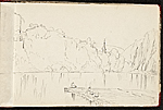 [Worthington Whittredge sketchbook of a trip down the Rhine River sketchbook page 3]