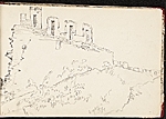 [Worthington Whittredge sketchbook of a trip down the Rhine River sketchbook page 10]