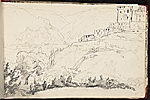 [Worthington Whittredge sketchbook of a trip down the Rhine River sketchbook page 13]