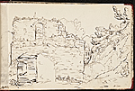 [Worthington Whittredge sketchbook of a trip down the Rhine River sketchbook page 17]
