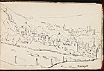 [Worthington Whittredge sketchbook of a trip down the Rhine River sketchbook page 21]