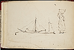[Worthington Whittredge sketchbook of a trip down the Rhine River sketchbook page 22]