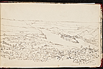 [Worthington Whittredge sketchbook of a trip down the Rhine River sketchbook page 33]