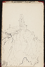 [Worthington Whittredge sketchbook of a trip down the Rhine River sketchbook page 52]