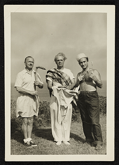 [George Grosz, Harry Wickey, and Marc Sandler]
