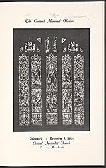 The dedication service of The Scott Memorial Window at the Central Methodist Church, Lawrence, Mass.