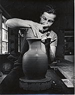 Marguerite Wildenhain throwing a pot