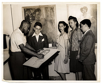 [Ellis Wilson with students]
