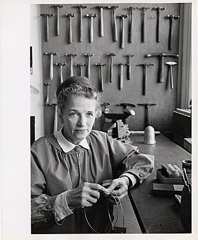 Margret Withers in her workshop