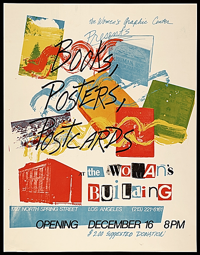 [Books, posters, postcards exhibit poster]