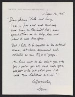 June Claire Wayne, Los Angeles, Calif. letter to Arlene Ranen, Ruth Iskin and Lucy Lippard