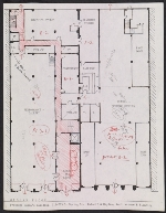 Floorplan for the proposed Woman's Building, 719-725 S. Spring Street, ground floor