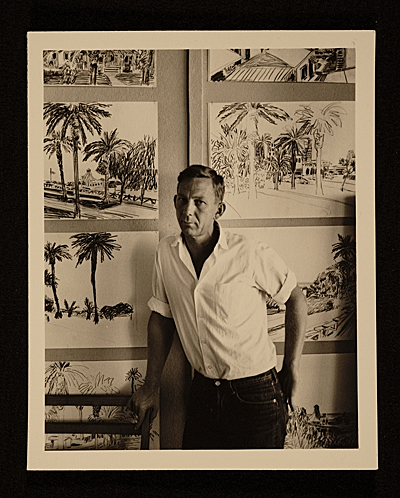 [Paul Wonner in his studio]