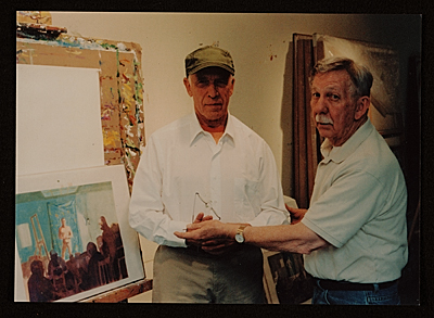 Paul Wonner with Bill Brown