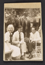 Louise and Walter Arensberg with Marcel Duchamp