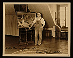 Grant Wood in his studio