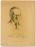 Samuel J. Woolf sketch of President Calvin Coolidge