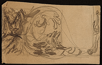 [Sketch for library mural in Ford Grade School, Highland Park, Mich.]