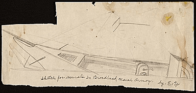 Sketch for mural at the Broodhead Naval Armory