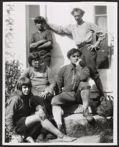 William and Marguerite Zorach with their children Tessim and Dahlov, and Bertram Hartman in Robinhood Cove, Maine