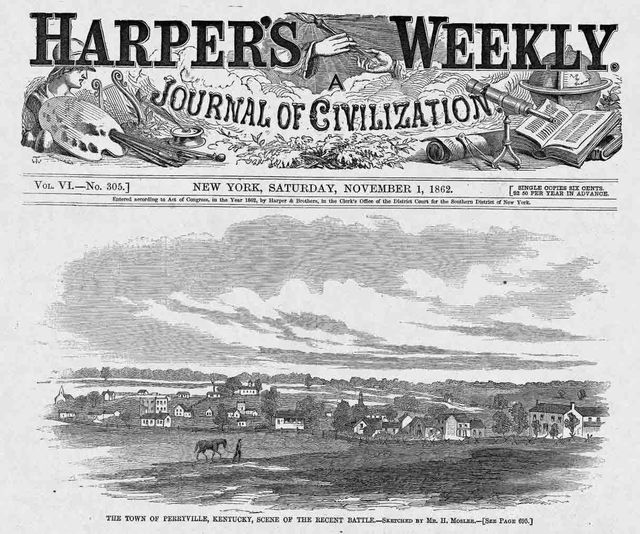 November 1, 1862 Harpers Weekly cover