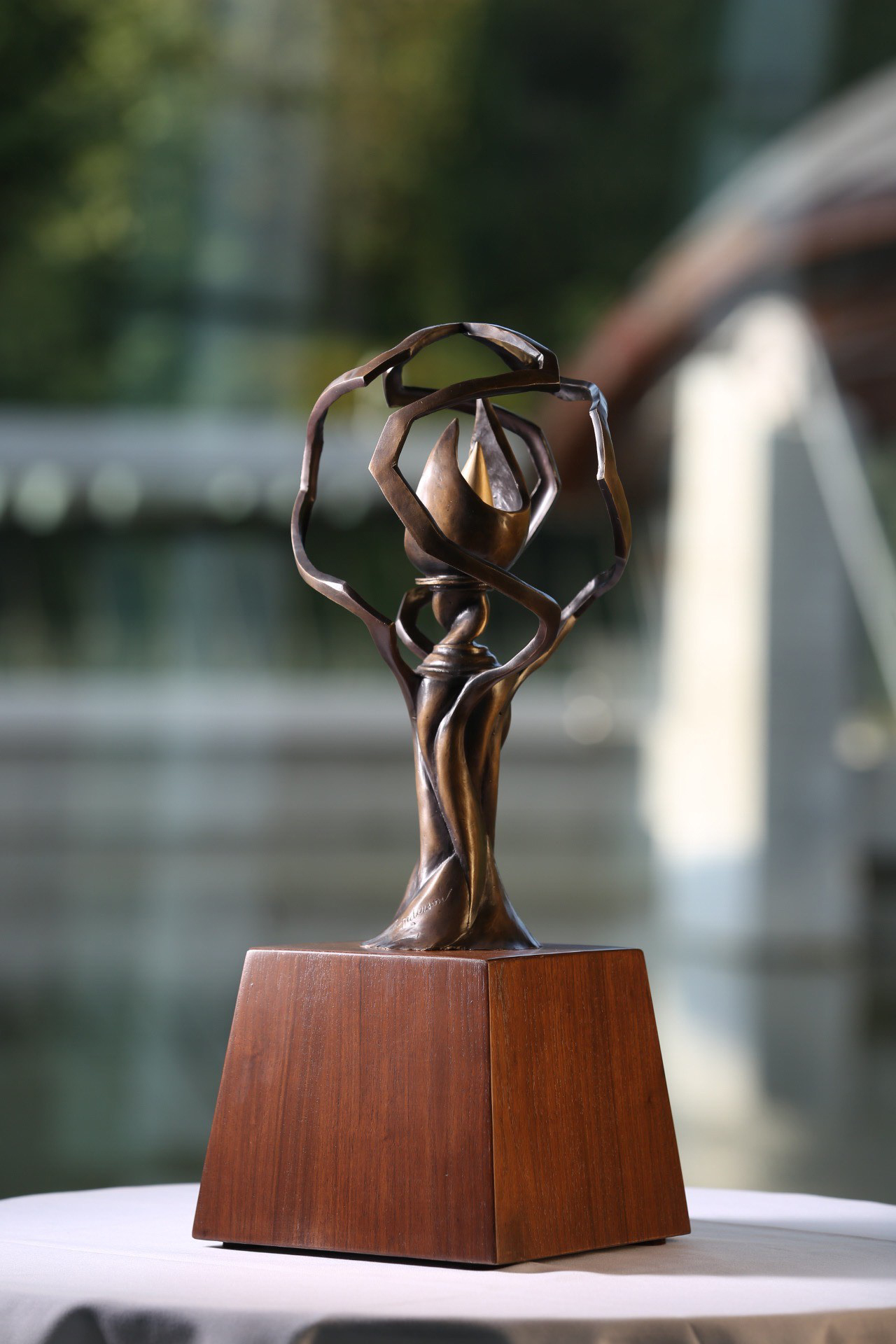 Tyson prize award statue designed by Troy Anderson