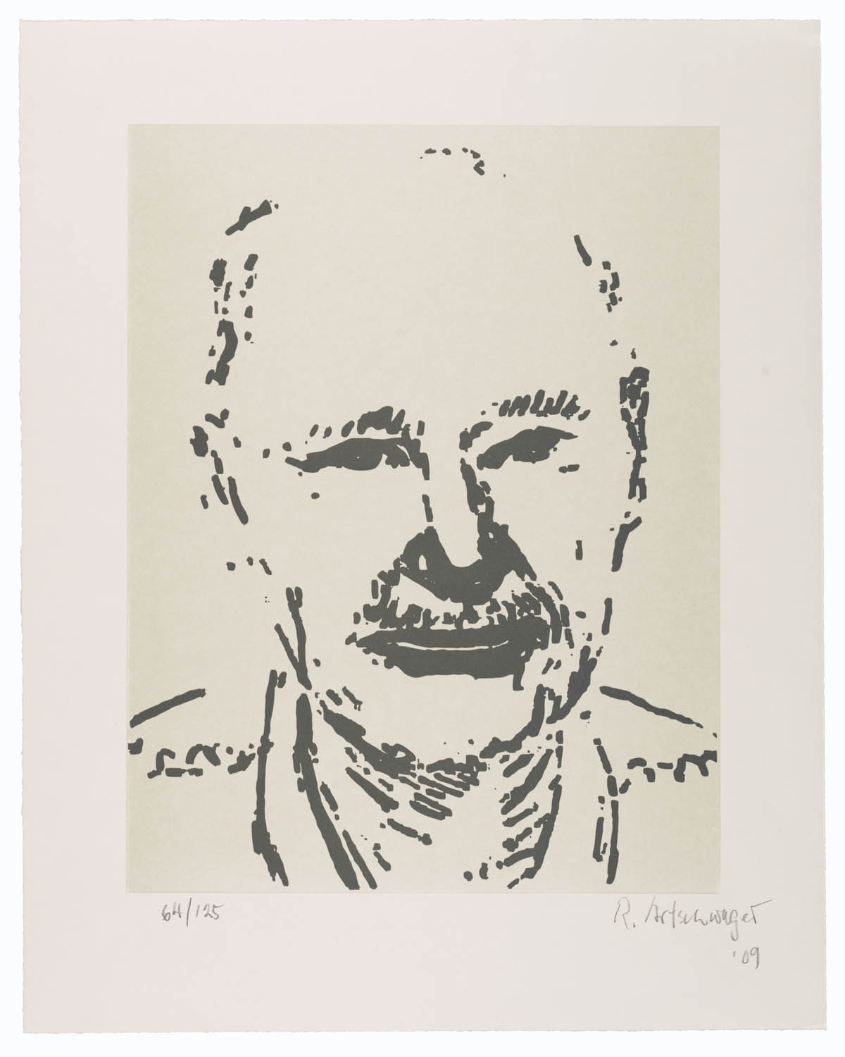 Sellf Portrait, 2009 by Richard Artschwager
