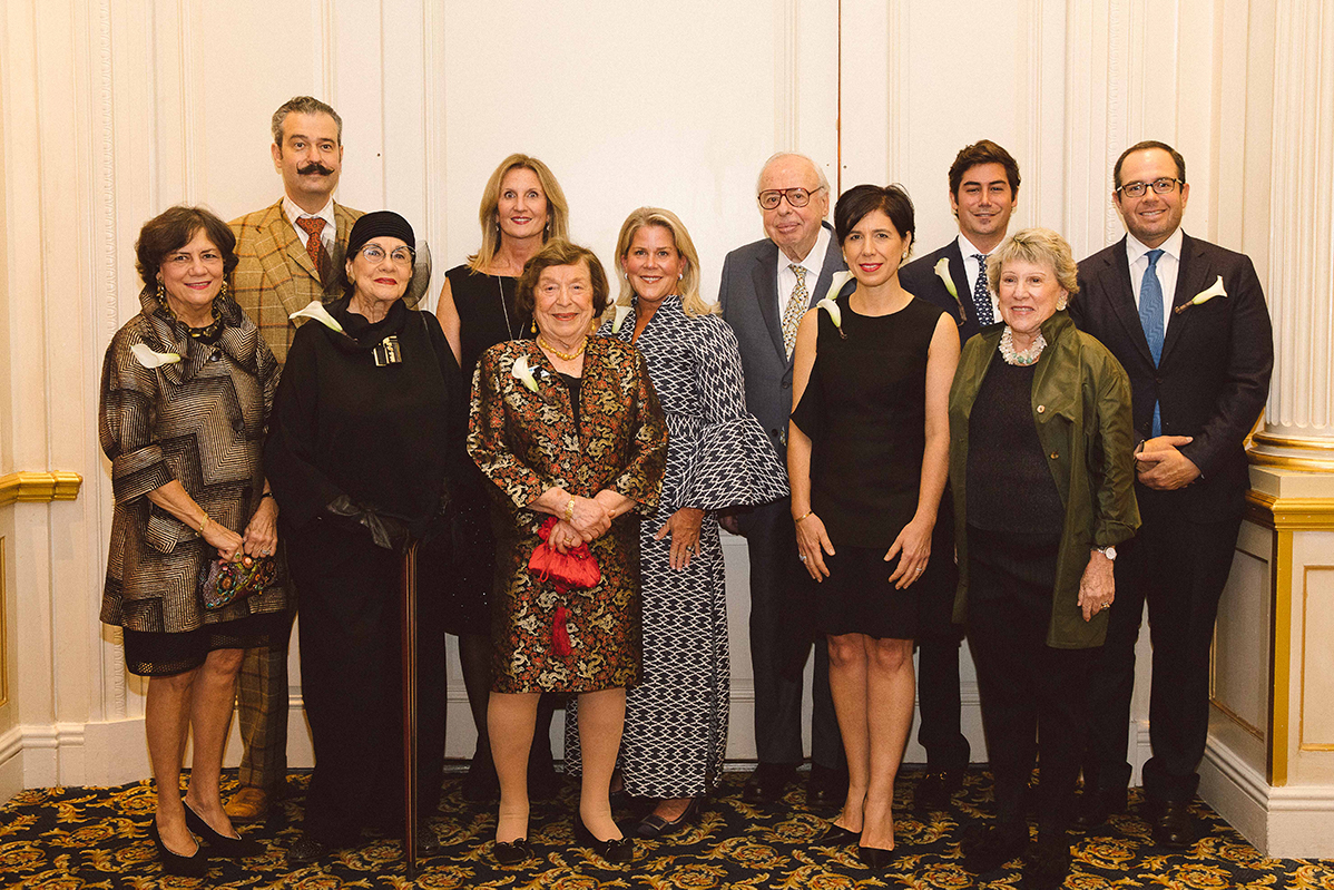The Board of Trustees of the Archives of American Art pose for a photograph at the 2019 gala.