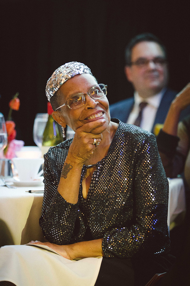 Catherine Moody listens to the presenters at the 2019 gala.